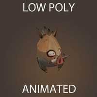 mini Wild Boar Pig low poly animated game