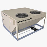 3d rooftop heating cooling unit model