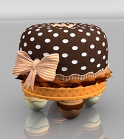 3ds max children tuffet chocolate miss