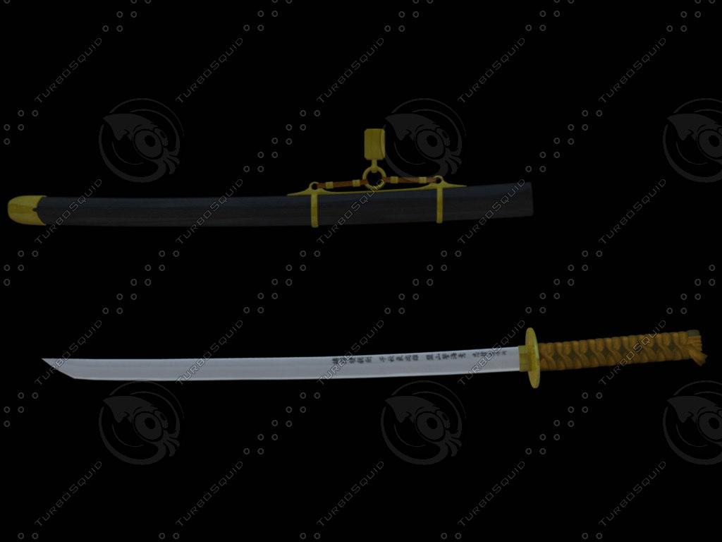 3d katana model