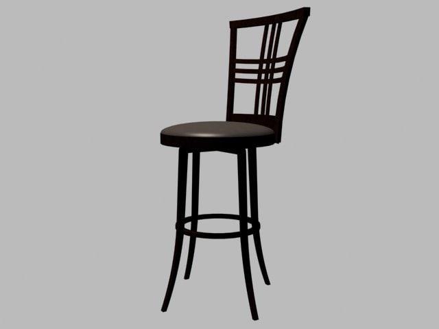 3d wood bar stool
