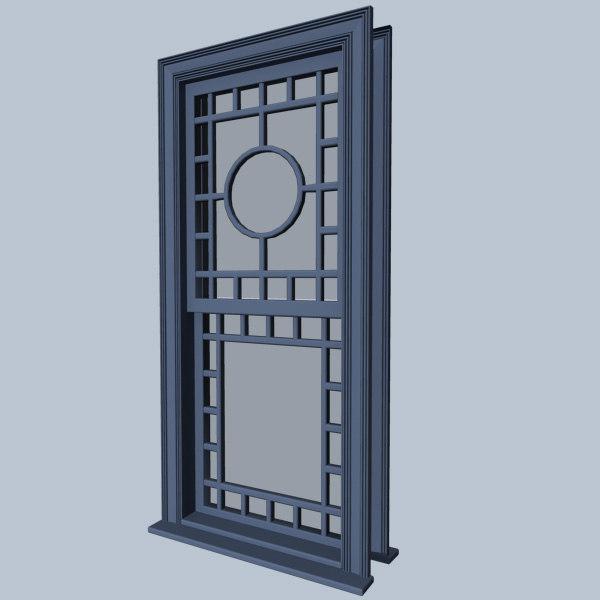 queen window 3d model