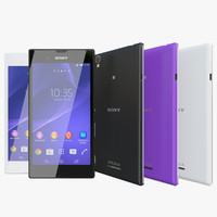 realistic sony xperia t3 3d model