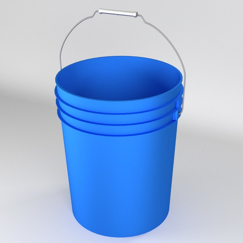 3d 5 gallon plastic bucket