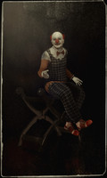 clown puppet sitting x