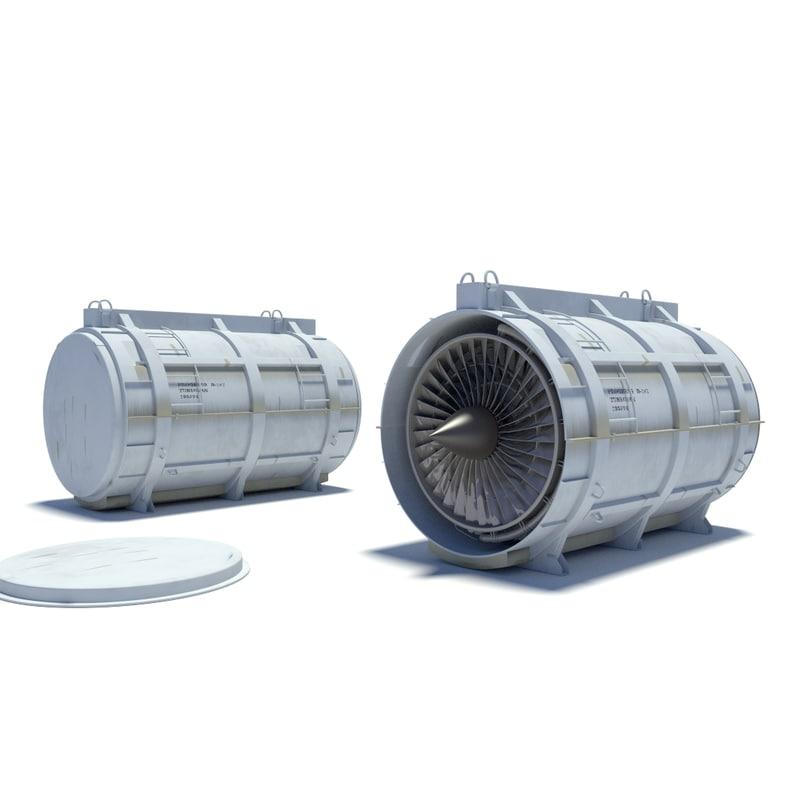 3 moel turbofan container