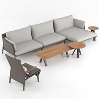 kettal vieques sofa armchair max