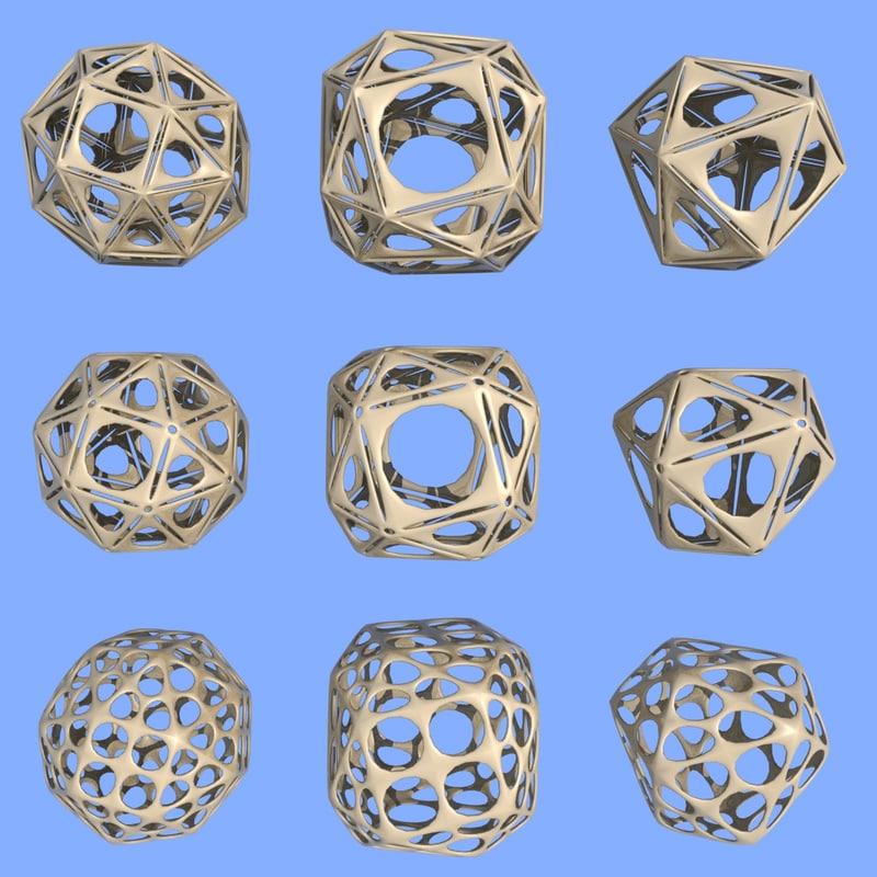 3d model geometric shape mht-04