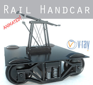 rail handcar 3d max