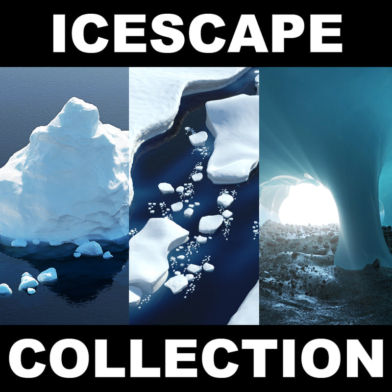 3d model icescape ice