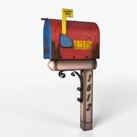 3d model mailbox realistic