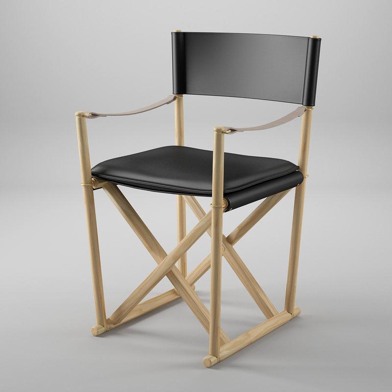 3d model folding chair
