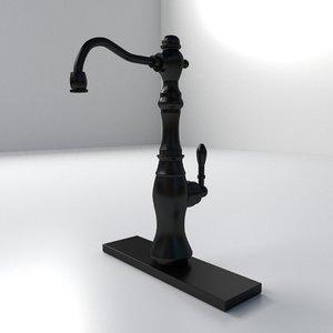 3ds antique faucet