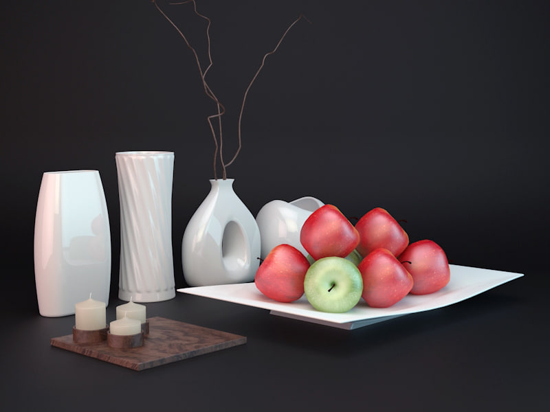home accessories vases plate 3d model