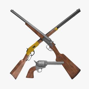 3d model old west guns