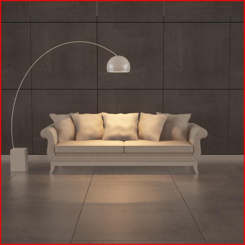 nice sofa 03 3d model