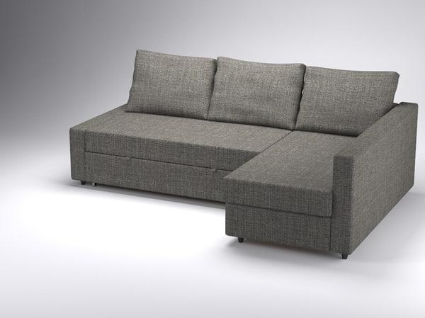 corner sofa-bed friheten ikea 3d 3ds