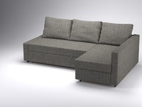 corner sofa-bed friheten ikea 3d 3ds