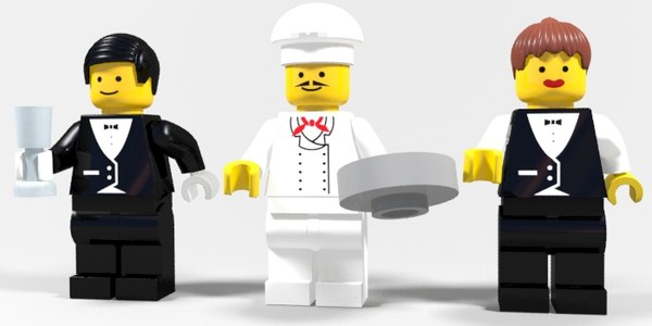 lego restaurant characters max