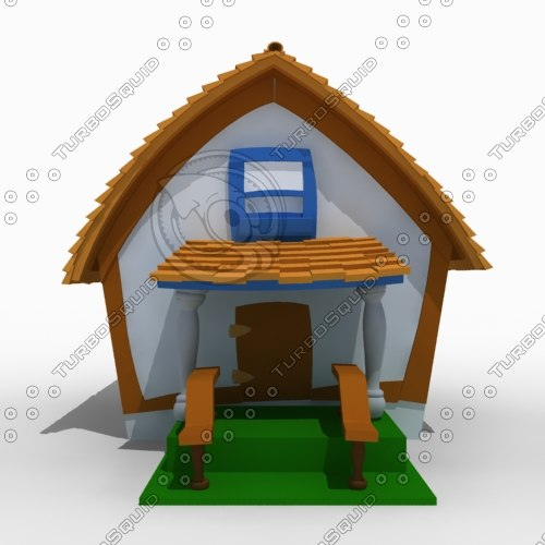 3dsmax house toon