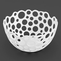 3d perforated bowl