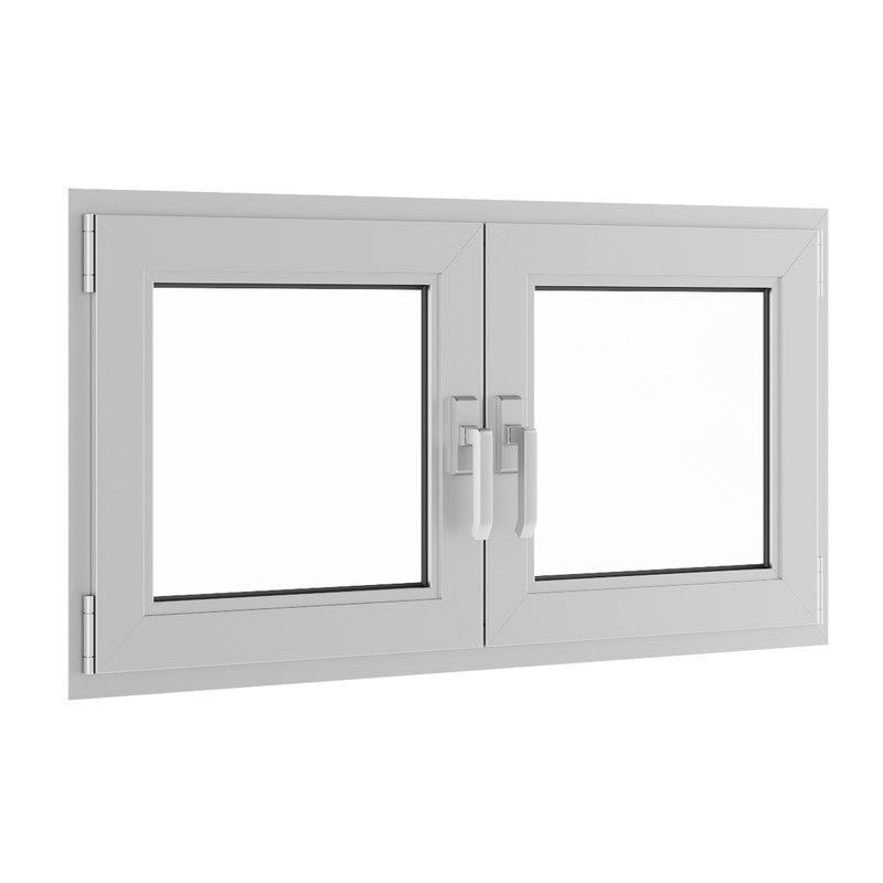 3d model openable metal window 1180mm