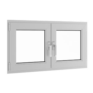 3d model openable metal window 1180mm