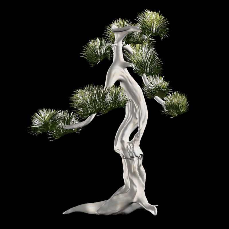 white tree 3d obj