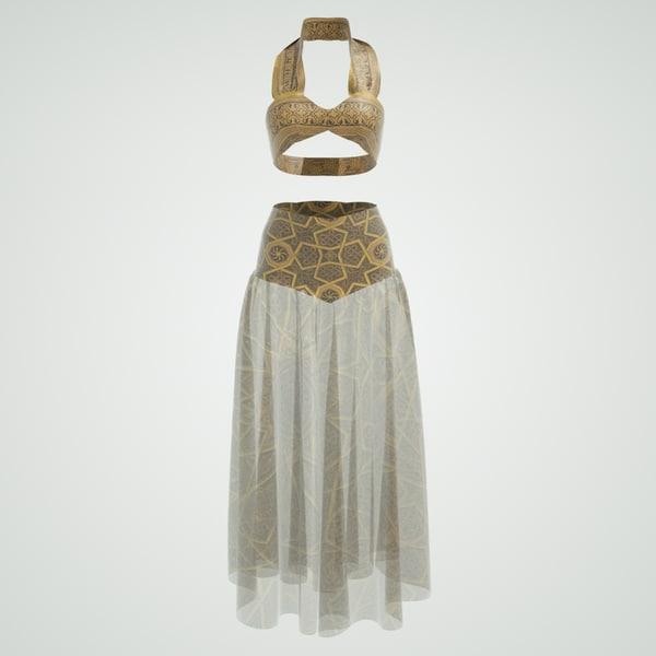 belly dancer outfit obj