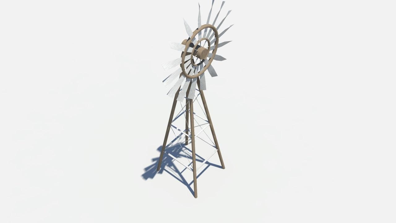 maya windmill steel