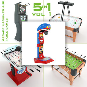 3d arcade machines table games