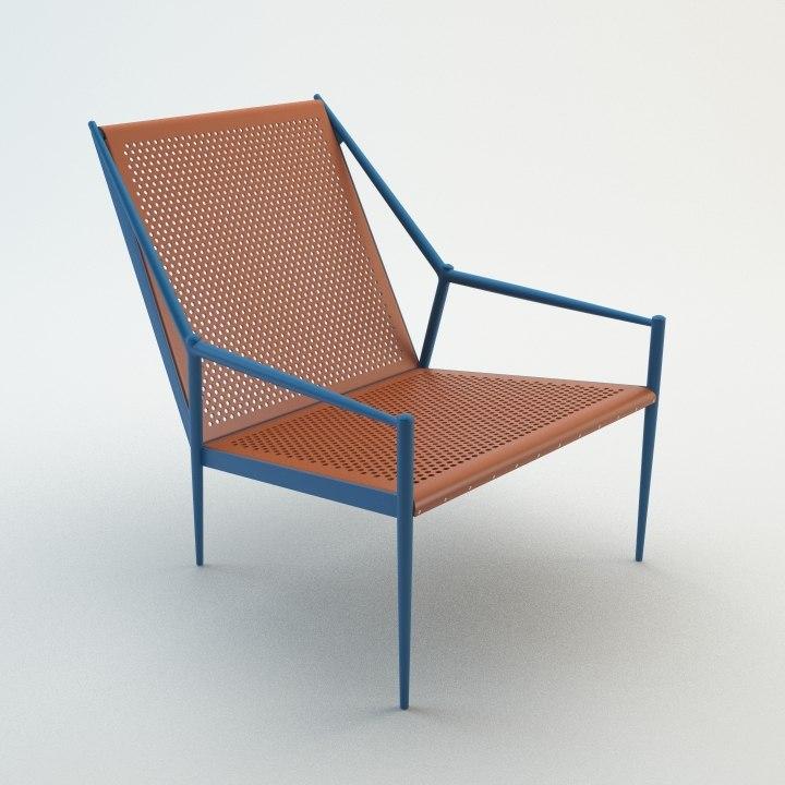 acciaio lounge - 3d model