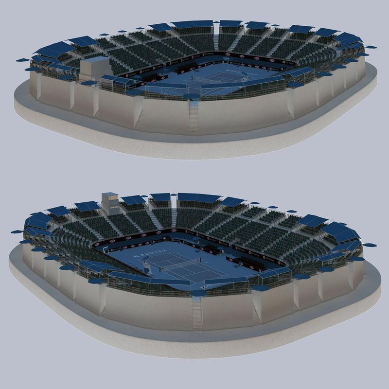 3d australian open tennis arena