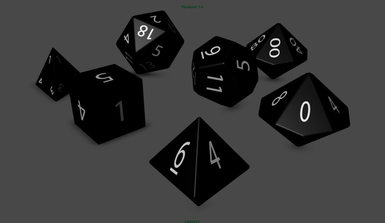 set dice 3d obj