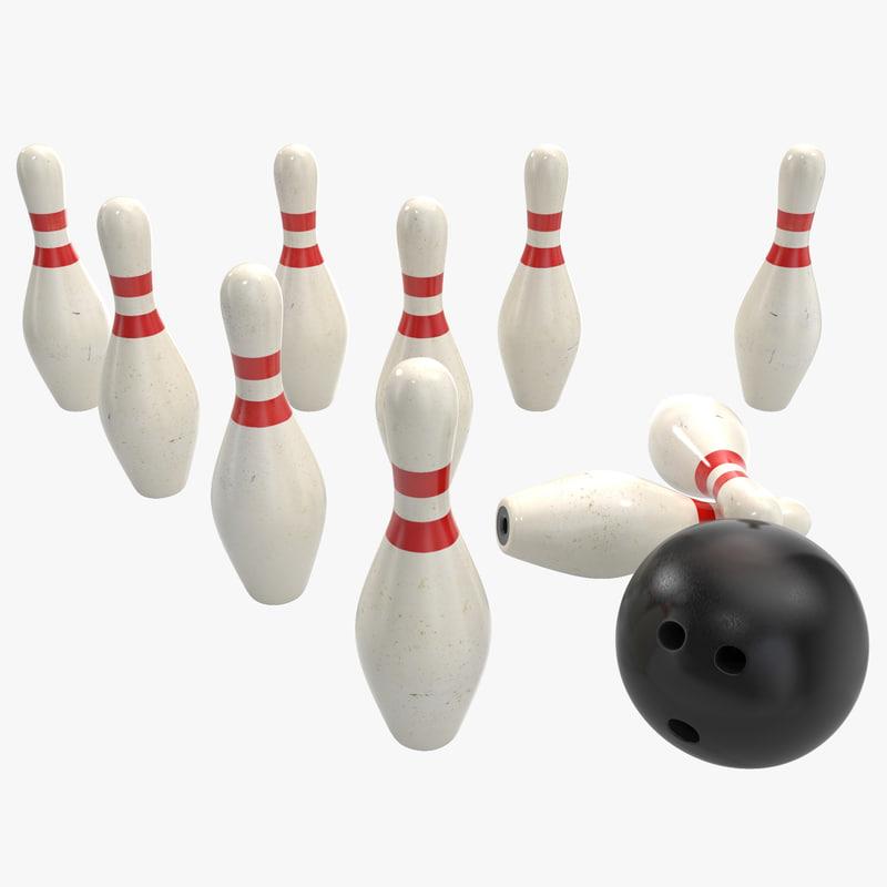 bowling pins ball max