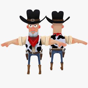 3ds max cartoon cowboy