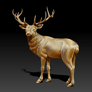 sculpture deer 3ds