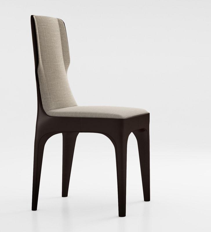 giorgetti tiche chair 3d model