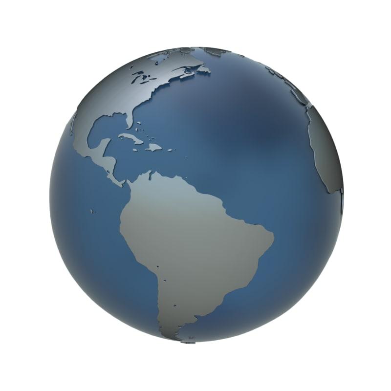 3d model globe earth