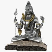 lord shiva statue murudeshwara 3d max