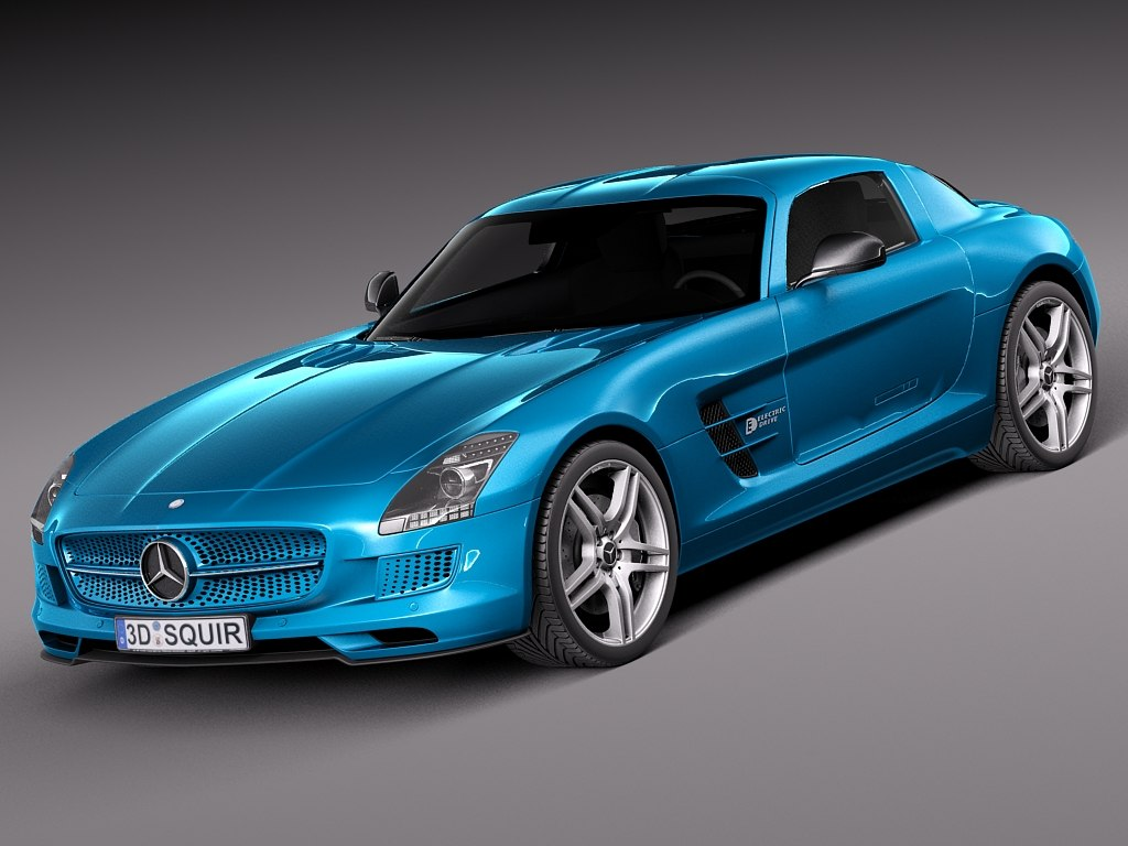 2014 electric mercedes 3d model
