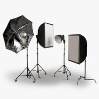 3d model photographic lighting equipment