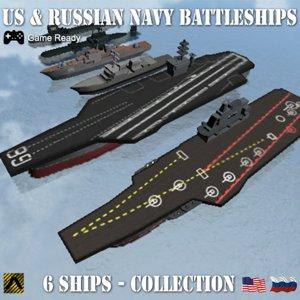 3d modern warships russia uss nimitz
