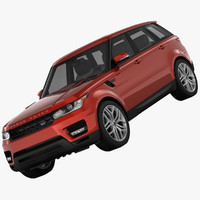 land rover range sport 3d model