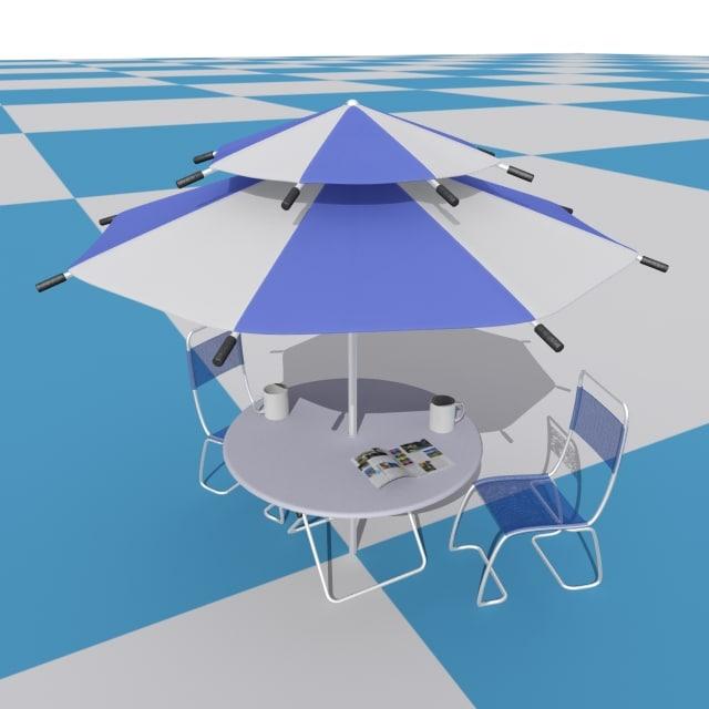 max beach parasol set