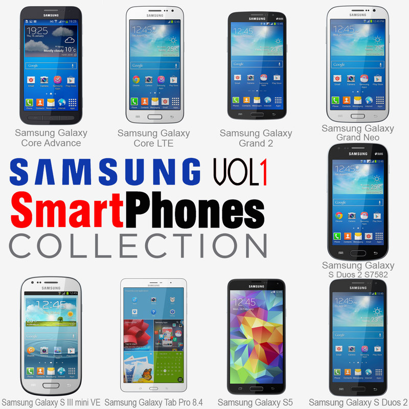 3d samsung smartphones v1 phones