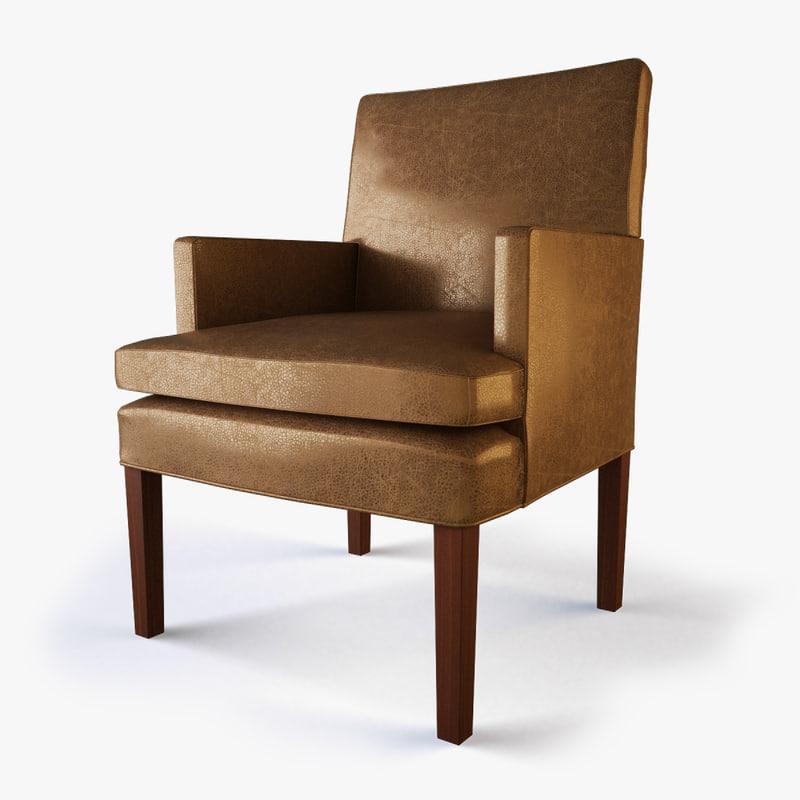 3d max designer host dining chair