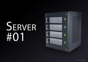 3d simplified server model