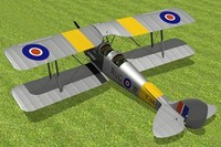 tiger moth haviland 3d model