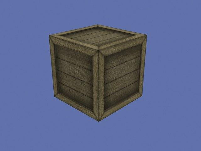 3dsmax woodplanks box crate